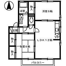 ベイサージュ22[3201 号室号室]の間取り