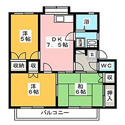 メゾニティーA[2階]の間取り