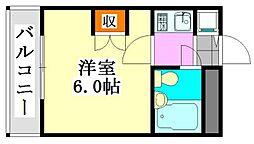 大和船橋マンション[507号室]の間取り
