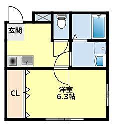 愛知県豊田市若宮町2丁目の賃貸アパートの間取り