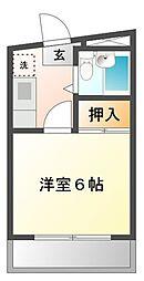 プラージュ甲子園[3階]の間取り