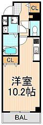 アールレジデンス東駒形H203[4階]の間取り