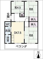 子持松コーポ[2階]の間取り