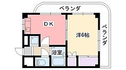 キャッスル甲子園[302号室]の間取り