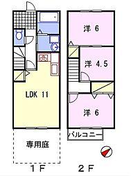[テラスハウス] 兵庫県姫路市御立西2丁目 の賃貸【/】の間取り