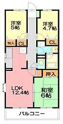 湘南山の手マンション[1階]の間取り