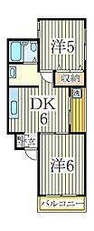 K−HOUSE[2階]の間取り
