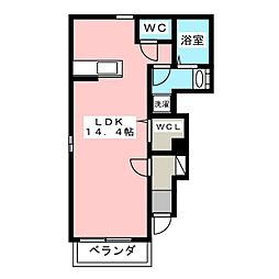 ソレイユ[1階]の間取り