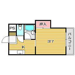 大阪府茨木市庄1丁目の賃貸マンションの間取り