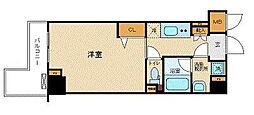 フェニックス飯田橋 2階1Kの間取り