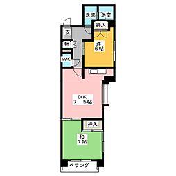 フローラルハイツ澤田[4階]の間取り