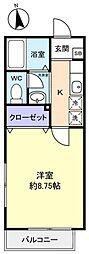 ドエルPaPa[1階]の間取り