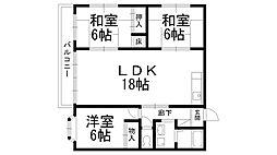 川口第二マンション[0202号室]の間取り