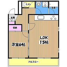 梅田ビル[3階]の間取り