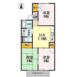 セジュール平田[203 号室号室]の間取り