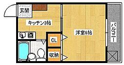 大須ハイツ[305号室]の間取り