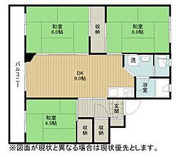 ビレッジハウス江別1号棟[2階]の間取り
