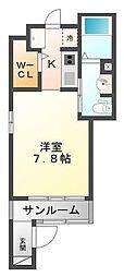 エトワール学文殿B棟[1階]の間取り