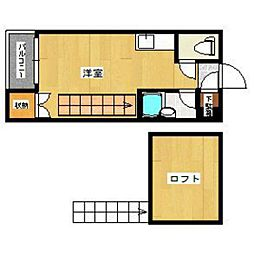 福岡県福岡市西区小戸3の賃貸アパートの間取り