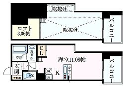 フォレステージュ江坂公園 14階1SKの間取り