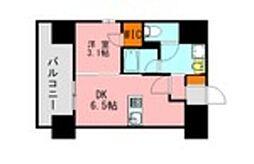 仮称)LANDIC 美野島3丁目 4階1DKの間取り