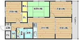 ダイアマンション[3階]の間取り