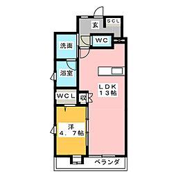 Makiki  garden place[6階]の間取り
