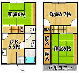 JR山陽本線 明石駅 バス17分 玉津曙下車 徒歩4分の賃貸テラスハウス 2階3DKの間取り