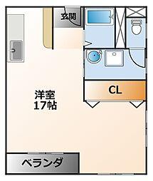 メゾン・ド・シーザリオ[2階]の間取り