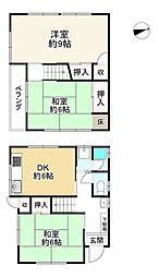 阪急宝塚本線 石橋阪大前駅 徒歩15分 3DKの間取り