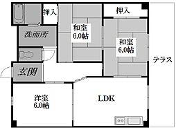 南埜第一マンション[2階]の間取り