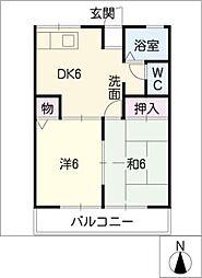 メゾン香樹[1階]の間取り