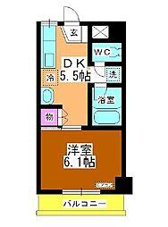 レジデンス コスモスI[304号室]の間取り