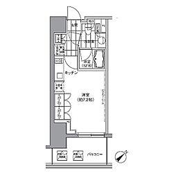 パークハビオ渋谷 14階ワンルームの間取り