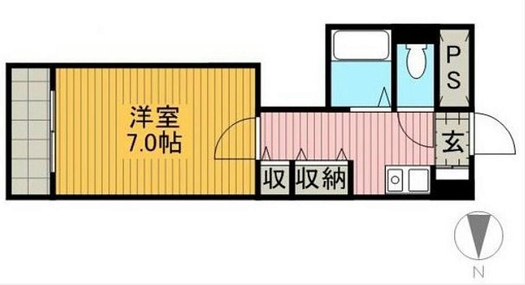 間取り(洋室7.0帖)