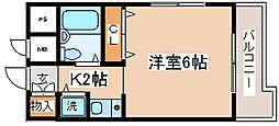 兵庫県神戸市兵庫区大開通8丁目の賃貸マンションの間取り