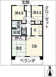サンコート桃花台 A棟[2階]の間取り