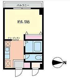 モトハウス[207号室]の間取り