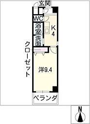 I's Villa Annex 1階1Kの間取り