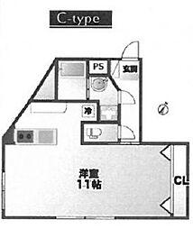 88.HANEZAWA 88.羽沢[201号室]の間取り