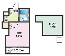ブルーハイム駒岡[303号室]の間取り