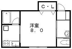 リセ3[1階]の間取り