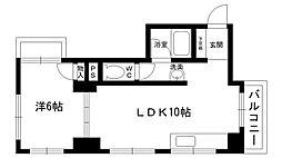 夙川カームマンション[204号室]の間取り