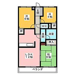キャッスルシティ城崎II[3階]の間取り