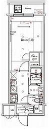 東急東横線 都立大学駅 徒歩4分の賃貸マンション 1階1Kの間取り