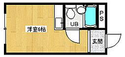 京都府京都市北区紫野上野町の賃貸マンションの間取り