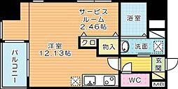サンシャイン Ⅲ[8階]の間取り