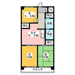 シティマンションエース[2階]の間取り