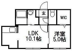 北海道札幌市中央区南五条西9丁目の賃貸マンションの間取り