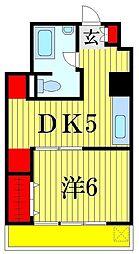 タウンハイツ亀有 1号棟[2階]の間取り